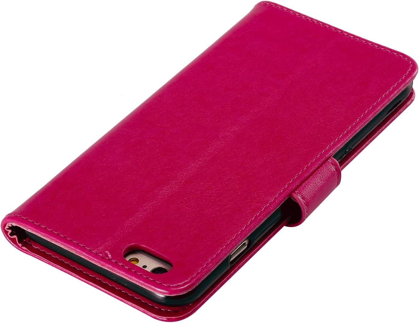 NEHHA130014 Red 6Plus 6 Plus with Card Holder Side Pocket Kickstand Shockproof Leather Flip Cover Case for Apple iPhone 6SPlus NEXCURIO Wallet Case for iPhone 6S Plus