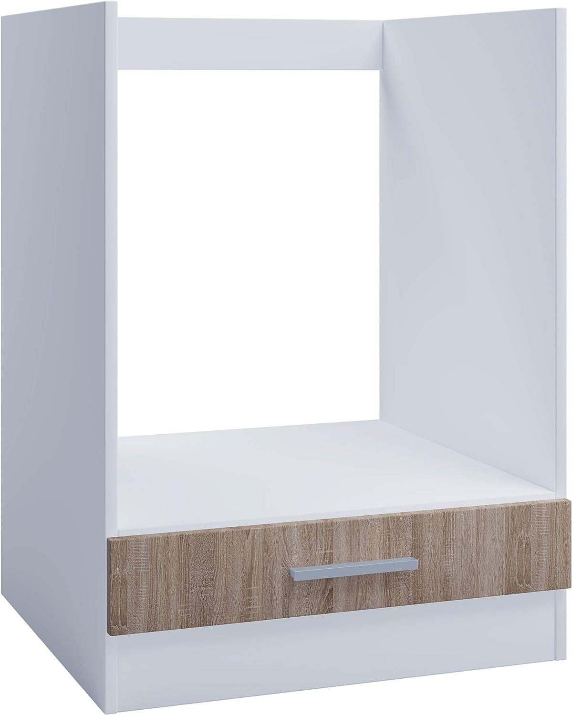 Armario de horno para cocina empotrada de 60 cm, roble sonoma, armario inferior, horno