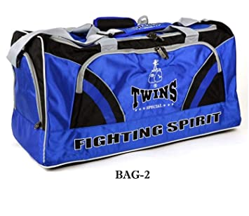 772b4e365d Image Unavailable. Image not available for. Color  Twins Gym Bag Bag-2 Blue  Boxing Equipment Bags Large ...