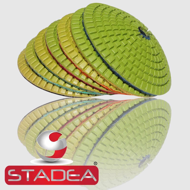 Convex Diamond Polishing Pad Concrete - Stadea 4'' Wet Granite Glass Terrazzo Marble Stone Polishing Grit 100