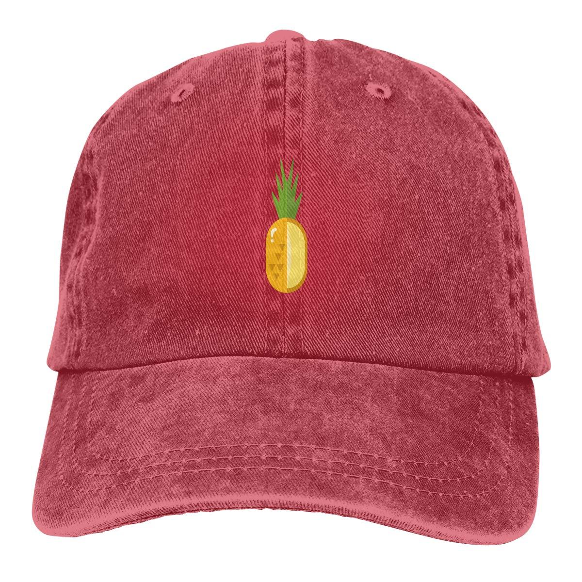 Pineapple Decoration Beautiful Cowboy Hat Dad Hats Trucker Denim Cap for Mens Womens