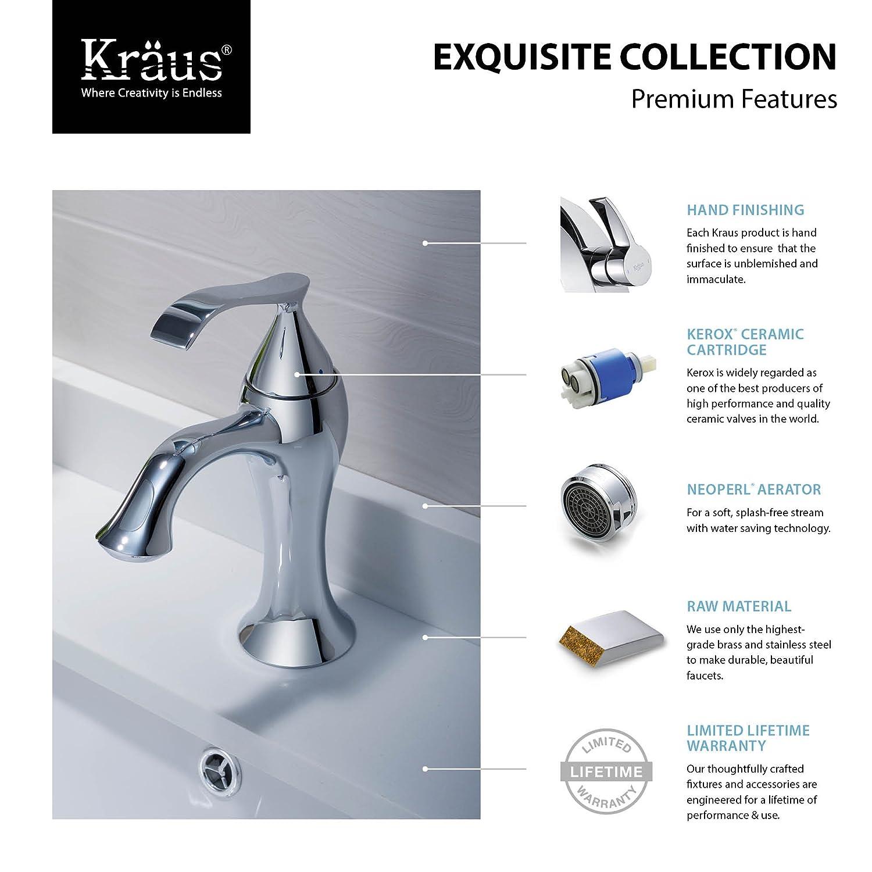 kraususa drain kraus up faucet pu pop parts faucets com