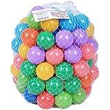 100pcs Multi Coloured Play Balls Fun Ball Plastic Ocean Ball Baby Kid Toy Swim Pit Toy (100pcs)