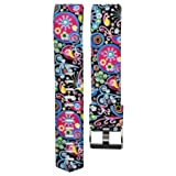 Colorful New Fashion Printing Sports Silicone Bracelet Strap Band , Ninasill Exclusive For Fitbit Charge 2 Watch Strap (U)