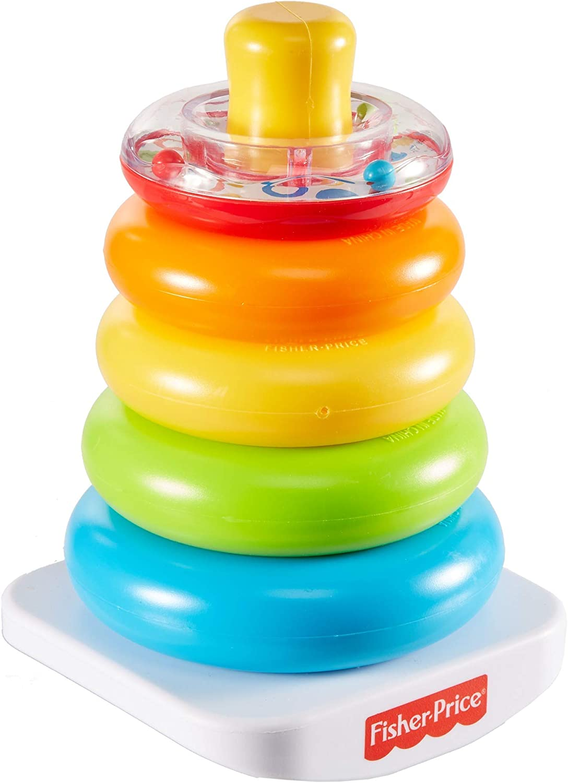 Fisher - Price Rock-a-Stack, juguete clásico de apilar aros para niños + 6 meses (Mattel GKD51) , color/modelo surtido
