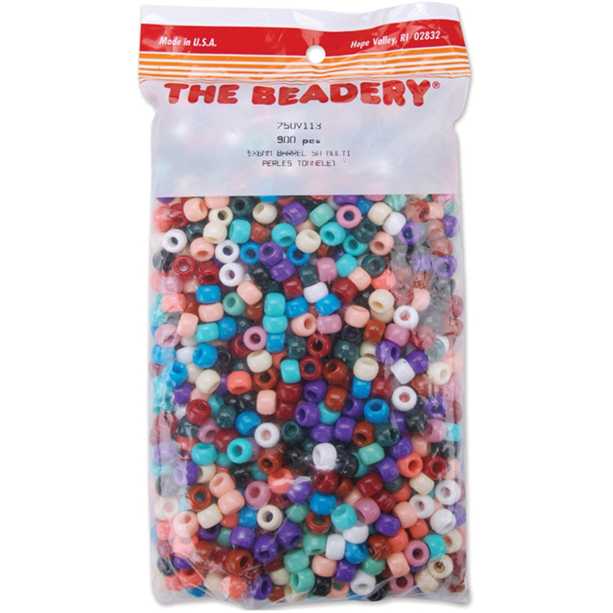 Beadery Pony Beads, 6x9mm, Southwest, Multicolor, 900-Pack 750V-113