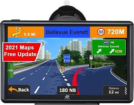7 pulgadas SAT NAV de por vida Navegaci/ón GPS para coche sistema de navegaci/ón de giro a giro para coches