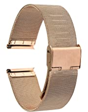 TRUMiRR 18mm Cinturino in Maglia di Acciaio Inossidabile Bracciale in Metallo per Huawei Watch 1st/Fit, ASUS ZenWatch 2 WI502Q,Withings Activite/Steel HR 36mm,Fossil Q Tailor, 36mm Daniel Wellington