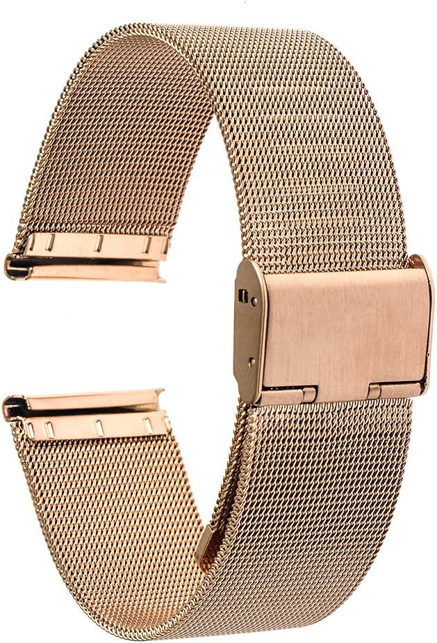 TRUMiRR Banda de 18 mm Reloj de Pulsera de Malla de Acero Inoxidable de Metal para Huawei Reloj,ASUS ZenWatch 2 WI502Q de la Mujer,Withings Activite/Acero/Pop,Fossil Q Tailor, 36mm Daniel Wellington