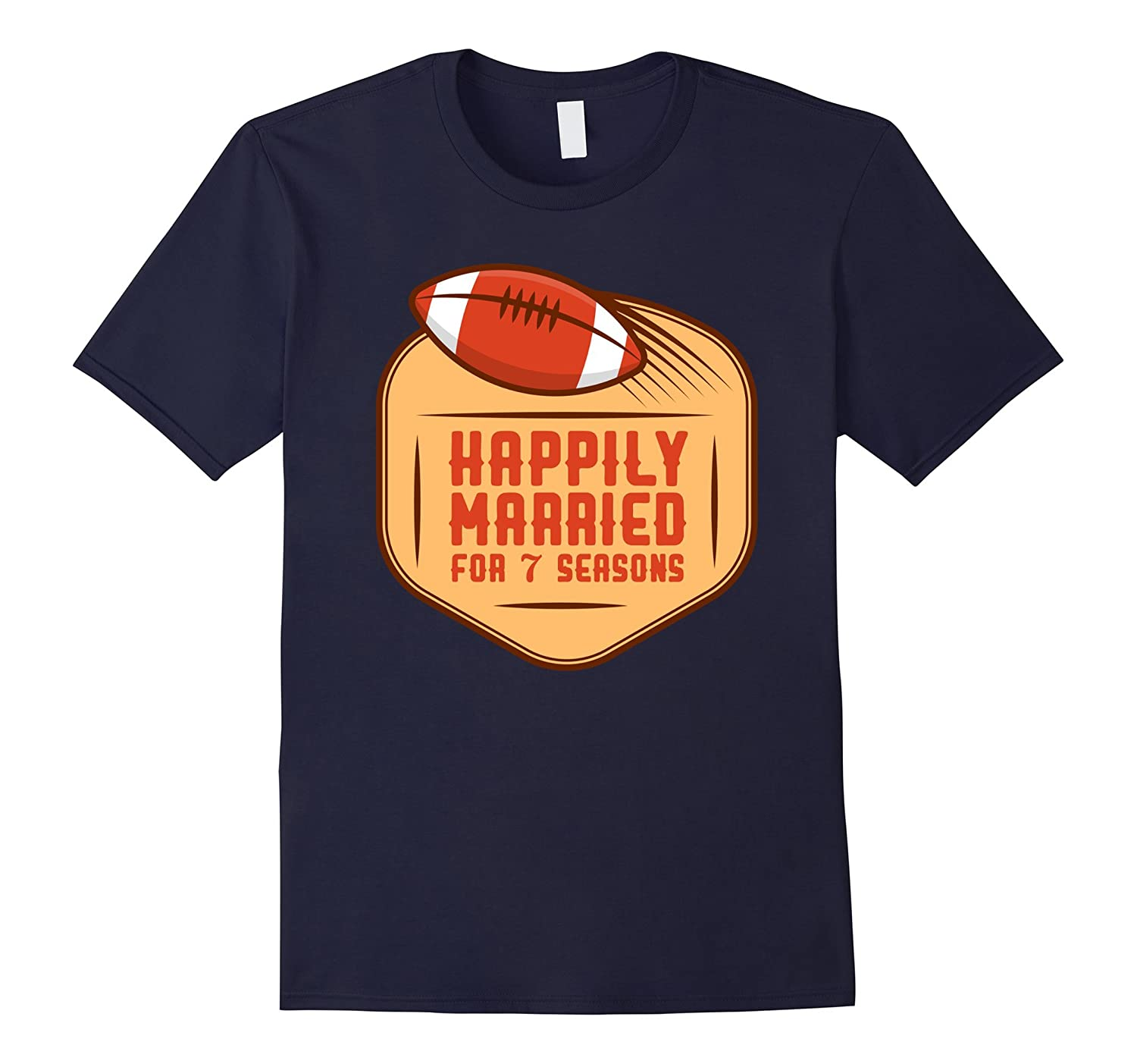 7th WEDDING ANNIVERSARY Shirt - Football Couple Season Shirt-FL