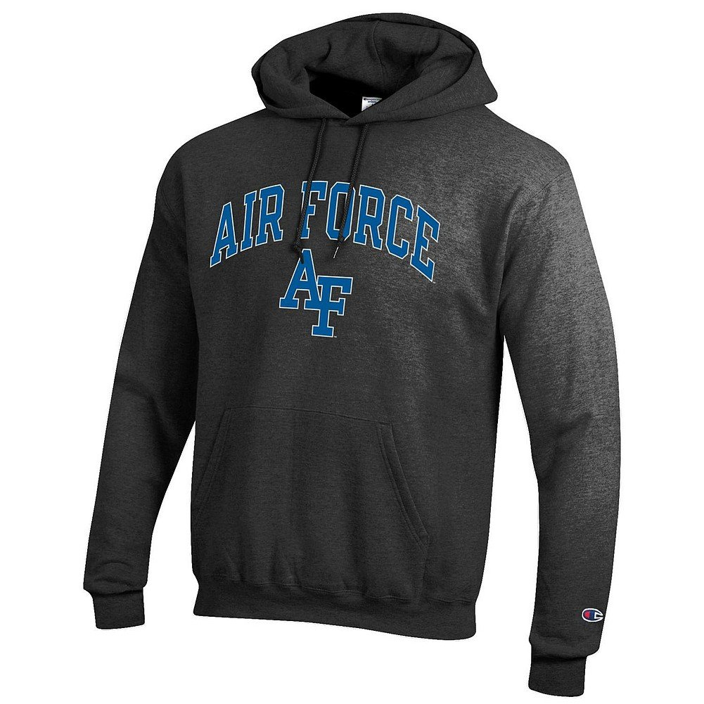 Elite Fan Shop Air Force Falcons Hooded Sweatshirt Charcoal - XXL