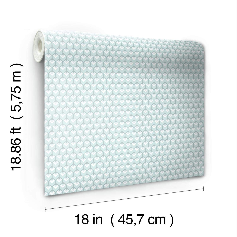 Yellow RoomMates RMK11337RL 3D Petite Hexagons Peel and Stick Wallpaper