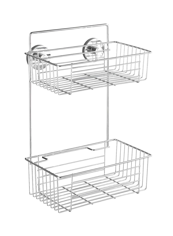 Wenko Vacuum-Loc Estanter/ía 2 Repisas 17x26x38 cm Plateado Acero