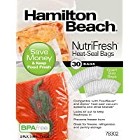 Hamilton Beach NutriFresh Heat-Seal Quart Sized Bags