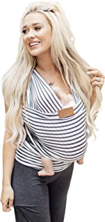 product image for Tuck and Bundle - Lightweight Baby Wrap Carrier - Stripe - Best Baby Wrap for Newborns 0-15 Months (0-25 lbs) - Comfortable, Simple, and Hands-Free Babywearing Wraps Made of 100% Micromodal
