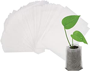 """Augshy 400pcs Biodegradable Seed Nursery Bags, Non-Woven Plants Grow Bags, Fabric Seedling Pots Plants Pouch, Home Garden Supply 9x12cm/3.54""""x 4.72"""""""