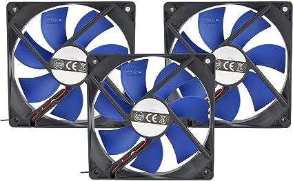 Cortek Kit 3 Ventiladores PC 120 mm Azul fo12b3 3 Pin 12 cm ...