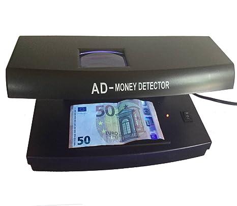 Profesional – Detector de billetes falsos billetes Tester Banco Ordenador ntester Detector de billetes con marca