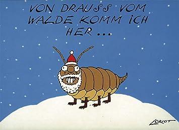 Loriot Weihnachten.Postkarten Weihnachten A6 0615 Waldlaus Von Inkognito