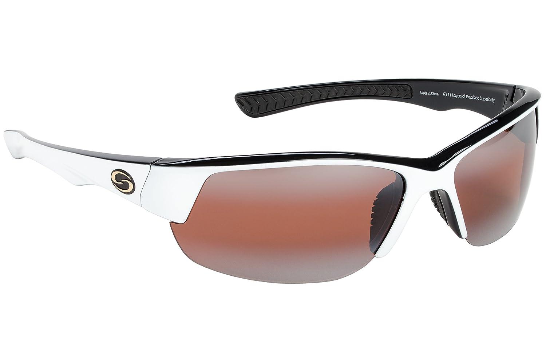 dcc4e0486d Amazon.com   Strike King S11 Optics Semi Rimless Polarized Sunglasses  (White-Black Two Tone Amber)   Sports   Outdoors