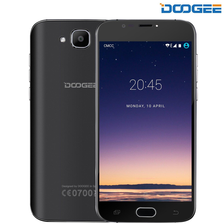 Unlocked Smartphones, DOOGEE X9 Mini Dual SIM Cell Phone Unlocked - Android 6.0-5.0'' HD IPS Display - MT6580 Quad Core - 8GB ROM - 5MP Camera - 3G Unlocked Phones - Black