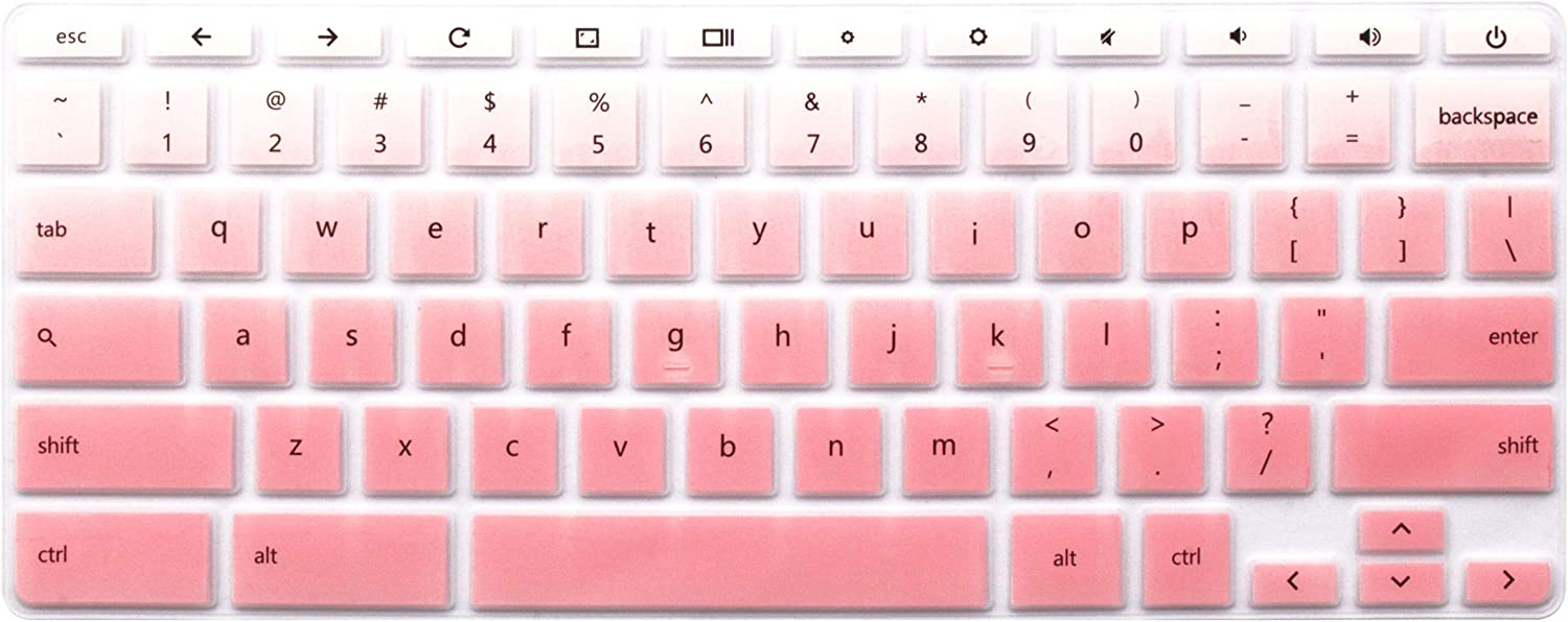 "Keyboard Protective Skin Compatible HP Chromebook x360 11.6"", HP Chromebook 11 G2 G3 G4, G5, G6 EE, HP Chromebook 14 inch G3 G4 G2 14-X 14-AK 14-CA Series (NOT Fit HP Chromebook G5 EE) (Ombre Pink)"
