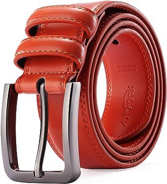 Men/'s Genuine Leather Dress Belt Casual Pin Buckle Waist Strap Belts WaistbandJB