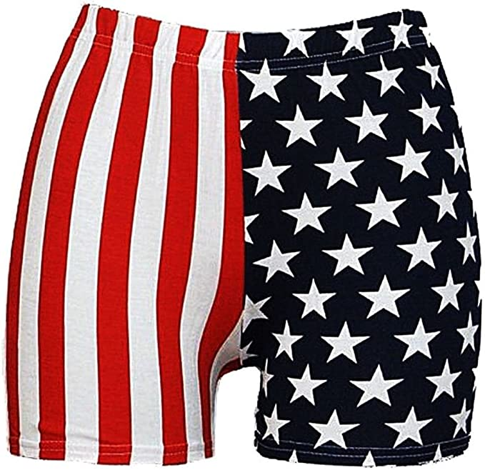 Women/'s Star and Stripes USA Flag Shorts