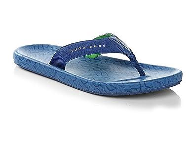 1408bc45e1be BOSS Hugo Shoreline Sunshine Blue Rubber Flip Flops Sandals (8 9 ...