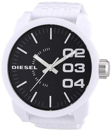 Diesel DZ1518 - Reloj analógico de cuarzo para hombre con correa de plástico, color blanco: Diesel: Amazon.es: Relojes
