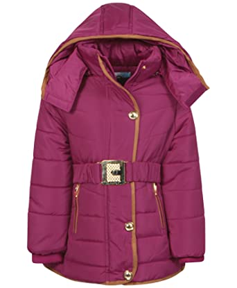 30cd48129 Amazon.com  Girls Padded Jacket Style CLH-1501 in Cerise 5-6 Years ...