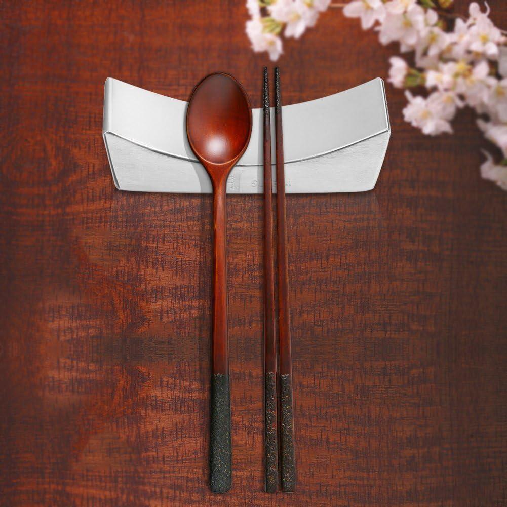 Fdit Soporte de Palillos Cuchara Japonesa SSGP 304 Horquilla Comedor de Acero Inoxidable para Cocina