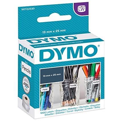 DYMO LW - Etiquetas Auténticas Multiusos Pequeñas, 13 mm × 25 mm ...
