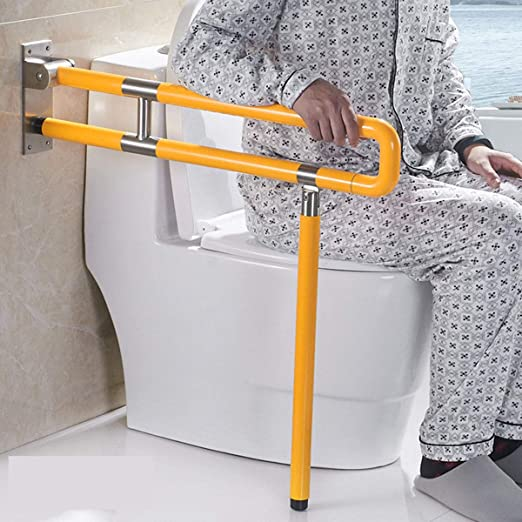 Barras Agarraderas Baño, Doble Barra Asidero Abatible y Regulable, Barra abatible inoxidable para baño adaptado a personas mayores y con minusvalías,70cm,Yellow,StyleB: Amazon.es: Salud y cuidado personal