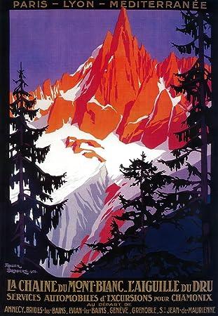 Amazon com: France - La Chaine De Mont-Blanc - Vintage