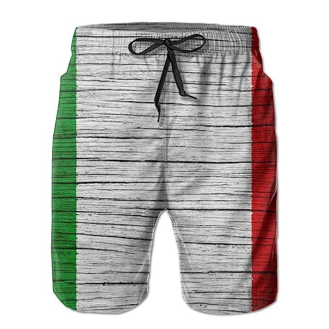 Amazon.com: HFSST Italia Textura de madera bandera italiana ...