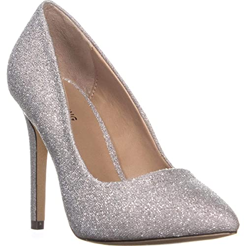 086508d48b6 Call It Spring Womens Agrirewiel Metallic Dress Pumps Silver 5 Medium (B,M)
