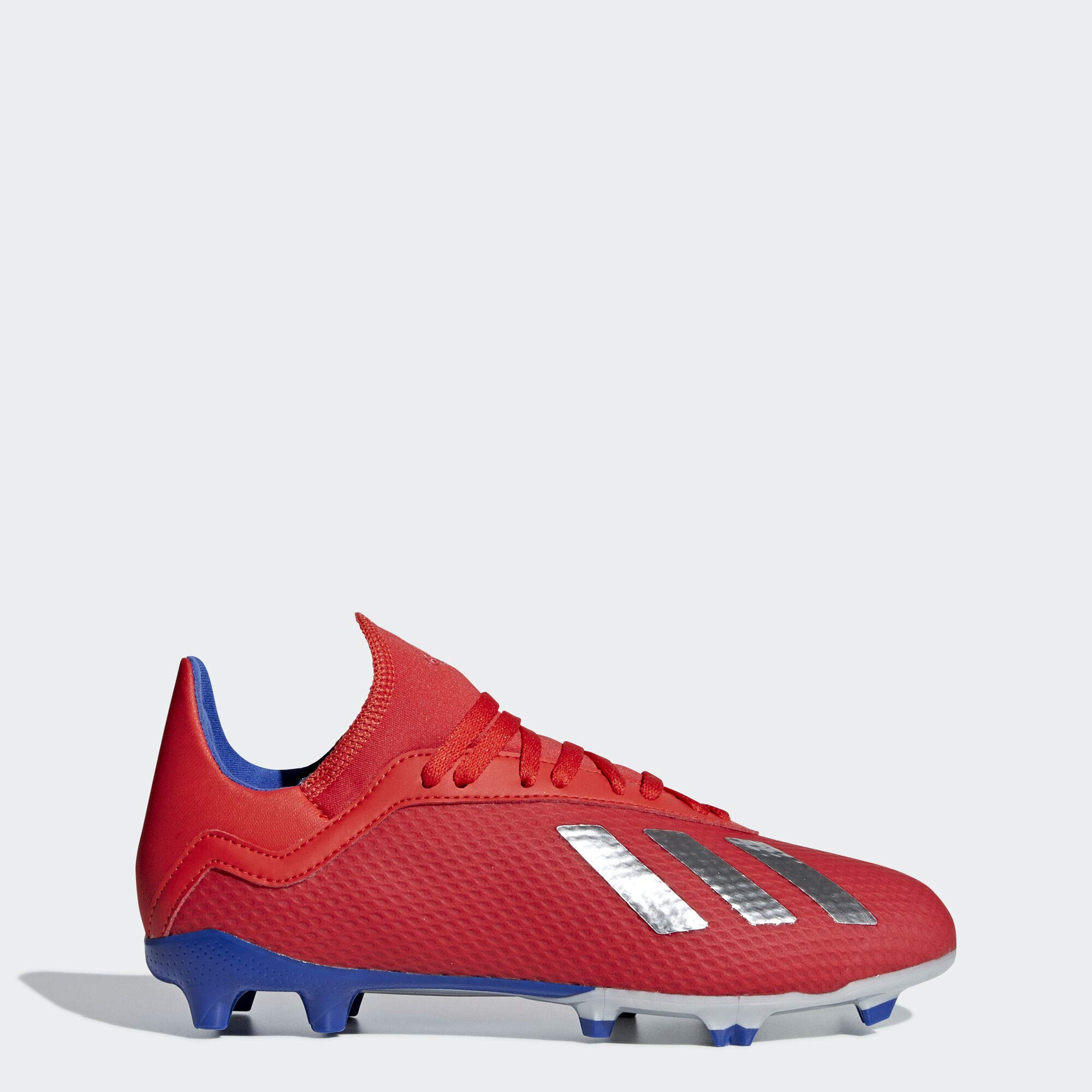 adidas Unisex X 18.3 FG, Active red/Silver Metallic/Bold Blue, 6 M US Big Kid by adidas