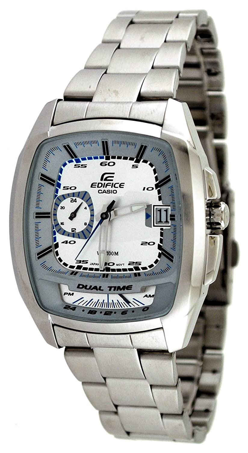 Amazon.com: Casio #EF321D-7AV Mens Edifice Stainless Steel Dual Time Zone Sports Watch: Watches