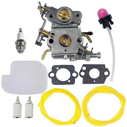 amazon com hipa c1m w26 carburetor with 530057925 air filter fuel Poulan Pro Fuel Line Diagram hipa c1m w26 carburetor with 530057925 air filter fuel line filter tune up kit