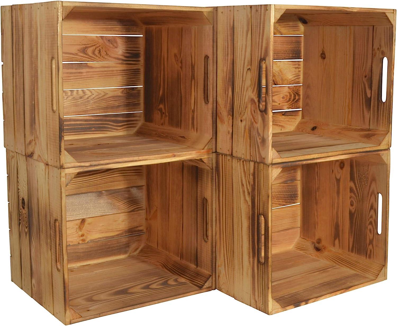 Chiccie Caja de madera Karl de Kallax, 33 x 38 x 33 cm, cesta de almacenamiento, cajón, caja de madera, estantería