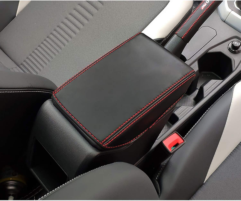 Yee Pin Armlehnen Abdeckung Für Polo Mk6 Seat Ibiza Typ 6f Hatchback Seat Arona Suv Mittelarmlehne Deckel Leder Schutzhülle Armlehnen Schutz Mittelkonsole Zubehör Auto