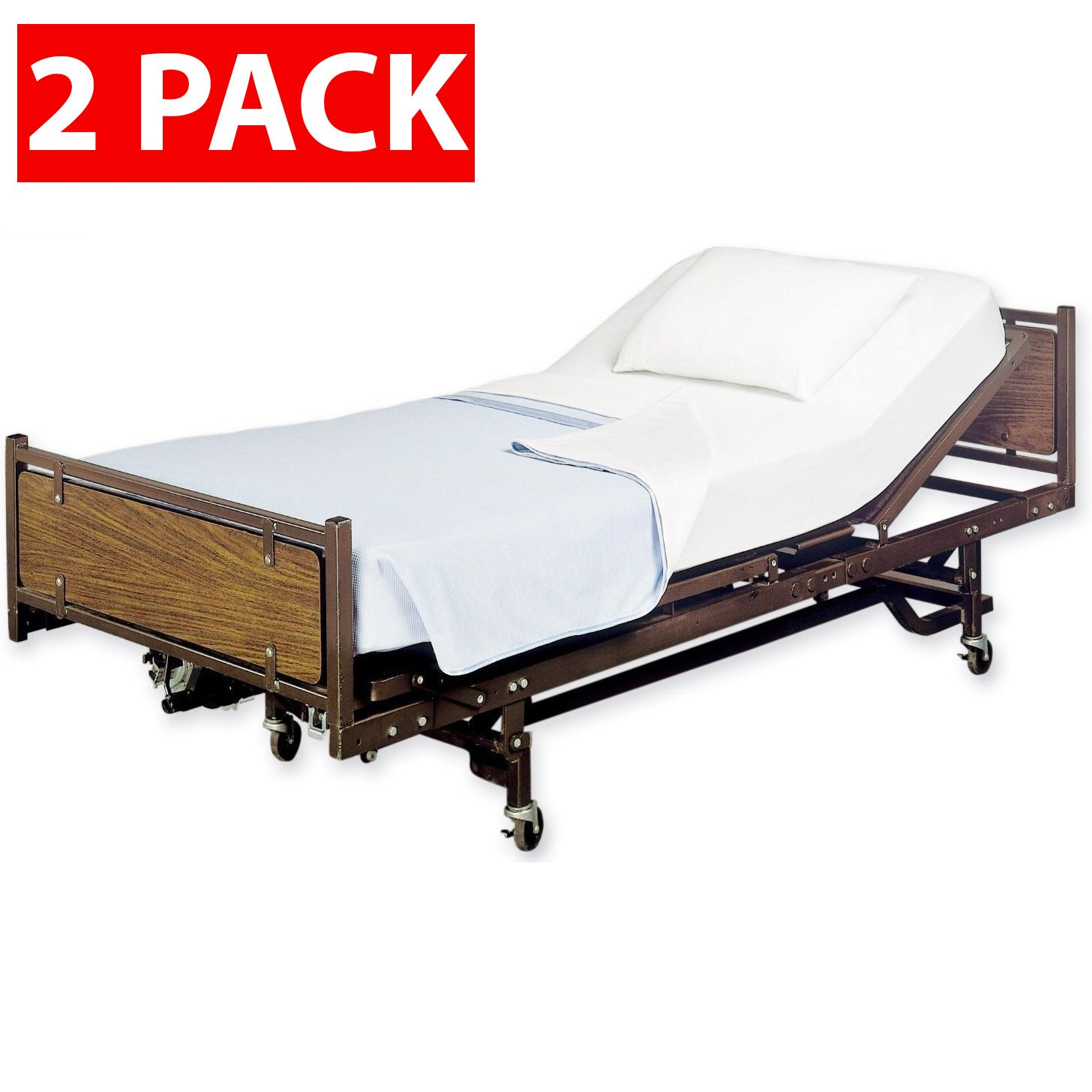 Careoutfit 2 Pack - Fitted Hospital Bed Sheets