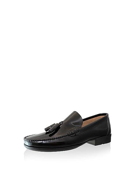 CASTELLANOS DE PIEL FLORENTIC MODELO CON BORLAS , SUELA DE GOMA COSIDA: Amazon.es: Zapatos y complementos