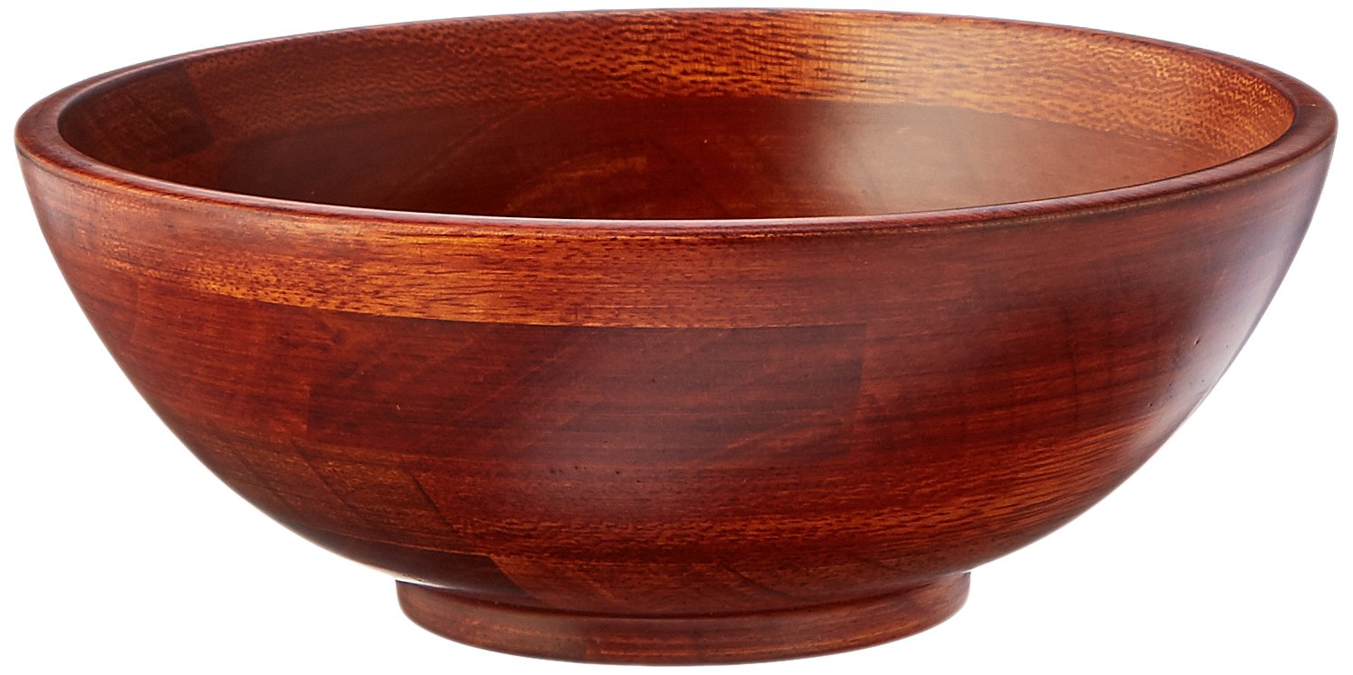 Lipper International 273-4 Cherry Finished Footed Serving Bowls for Fruits or Salads, Small, 7'' Diameter x 2.75'' Height, Set of 4 Bowls