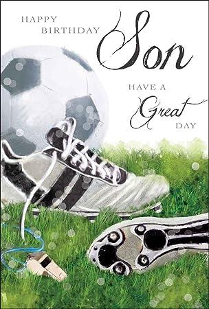 Son Football Birthday Card Amazon Office Products