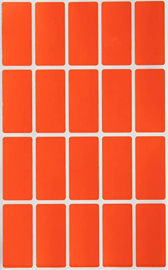 RED Color Coding Stickers - 100 Pack Royal Green Rectangle Folder File Labels 1.57inch x 0.75 inch 40mm x 19