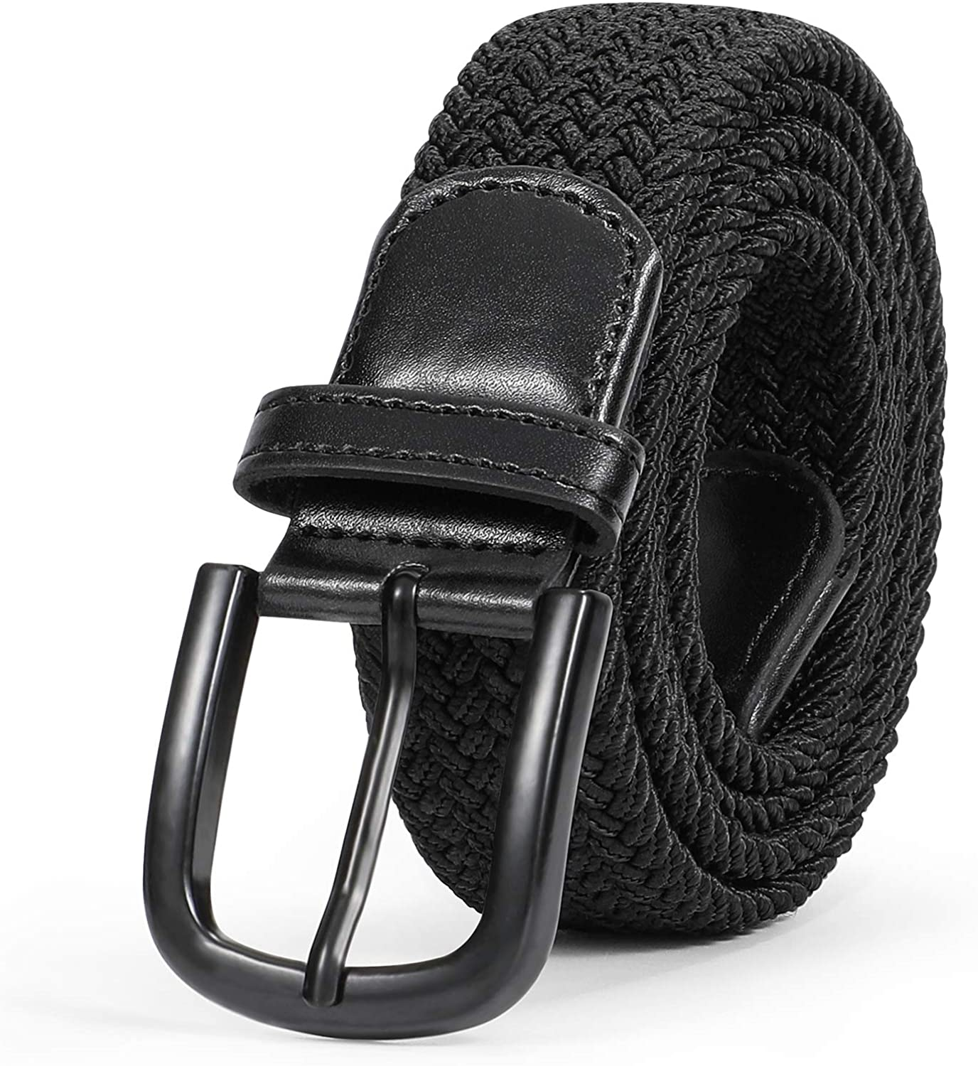 Belt For Men Elastic Waistband Canvas Buckle Braided Mens Woven Stretch StraTS