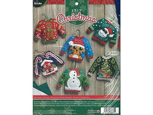 Bucilla BUC86674 Felt Kits 6 Orns Ugly Sweaters