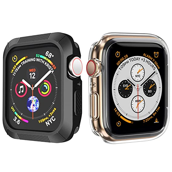 new arrival a3ebb 3e8a5 OUPODE Compatible with Apple Watch Case Series 4 40mm, Soft TPU Bumper Case  Compatible with iWatch Cover, Replacement for Apple Watch Protector Series  ...